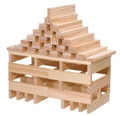 Last Christmas my son got a set of Kapla blocks which have since become his favorite toy. For the uninitiated, Kapla blocks are small, flat blocks of wood around x x w… Jenga Blocks, Wooden Blocks, Science For Kids, Activities For Kids, Diy For Kids, Crafts For Kids, Construction Games, Luau Invitations, Block Area