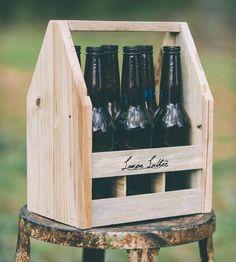Reclaimed Wood Bottle Carrier