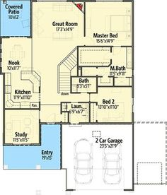 2 Bed Bungalow with Rear Covered Patio - 64410SC | 1st Floor Master Suite, Bungalow, CAD Available, Craftsman, Den-Office-Library-Study, Narrow Lot, Northwest, PDF | Architectural Designs