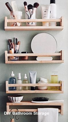 47 Charming Diy Bathroom Storage Ideas For Small Spaces - Everyone wants to have. ideen aufbewahrung kleines 47 Charming Diy Bathroom Storage Ideas For Small Spaces - Everyone wants to have. Ikea Shelf Hack, Ikea Shelves, Ikea Storage, Storage Hacks, Kitchen Storage, Storage Solutions, Toilet Storage, Makeup Storage, Hanging Storage