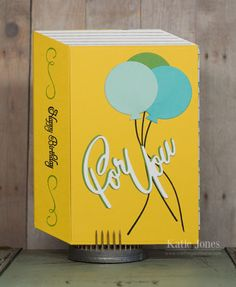 Crafting with Katie by Crafting Katie  | Birthday Book Card