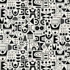 Tribal Patterns, Graphic Patterns, Print Patterns, Surface Pattern Design, Pattern Art, Quilt Pattern, Graphic Design Lessons, Art Brut, Textile Fiber Art