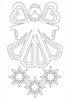 Andílek -vystřihovánka