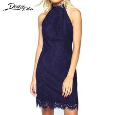 Summer Elegant Sleeveless Dresses Retro Cocktail Party Club Mini Dress Bodycon Casual Lace Sexy Sheath Dress Slim Women Clothing