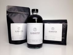 The Alabaster Coffee Co.'s Black Coffee Bags Look Deliciously Smooth #lifestyle #trends trendhunter.com