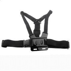 Black ABS Plastic Adjustable Body Harness Chest Belt Strap For Gopro Hero 1 2 3 3  4 SJ4000 Sport Camera