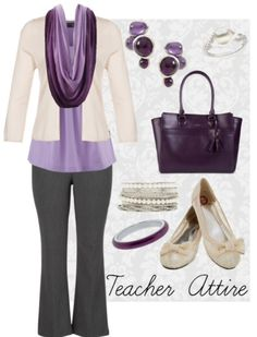 Teacher Outfit - Teacher Clothes - Wear to Work - Teacher Attire Series: Outfit 16 a Fashion Collage by DanielleJevette created on Polyvore
