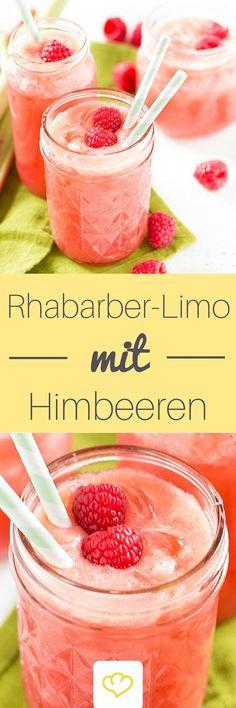 Rhubarb lemonade with raspberries - Trend Cocktail Food Ideas 2019 Slushie Recipe, Blueberry Syrup, Blueberry Lemonade, Summer Cocktails, Cocktail Drinks, Rumchata Recipes, Hard Drinks, Beet Smoothie, Recipes