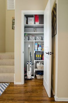 Gather All Your Cleaning And Interior Home Upkeep Supplies Into ONE  Location, Like A Small Coat Closet. Coats Can Be Moved To Coat Hooks/racks  In The Entry ...