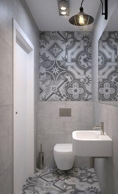 Znalezione obrazy dla zapytania łazienka z patchworkiem