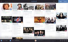 Rock & Roll Website on Behance