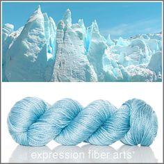 Iceberg Luster Merino Tencel Worsted Yarn! Expression Fiber Arts hand-dyed gorgeousness!