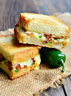 Jalapeno Pooper Grilled Cheese Sandwich