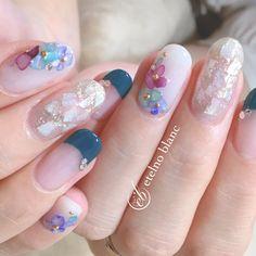 春/女子会/梅雨 - etelno blanc_rocoのネイルデザイン[No.3052528]|ネイルブック