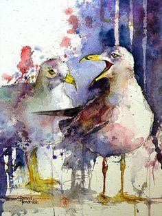 Bilderesultat for gerard hendrix aquarelle Watercolor Animals, Watercolor And Ink, Watercolor Paintings, Watercolours, Vogel Illustration, Guache, Wildlife Art, Animal Paintings, Bird Art