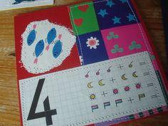 van oude rekenboekjes maak je een verjaardagskaart natuurlijk!