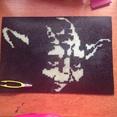Yoda Star Wars perler art (9 pegboards, glow in the dark) by Katie Binesh
