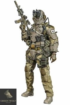 Military model specialist: Green Wolf Gear, scale weapons and figures Combat Armor, Combat Gear, Military Gear, Military Weapons, Galac Tac Armor, Tactical Armor, Mandalorian Armor, Military Action Figures, Futuristic Armour