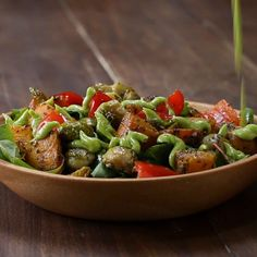 Roasted Veggie Salad With Avocado Dressing Recipe by Tasty