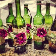Love wine, add baby's breath