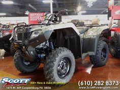 New 2016 Honda FourTrax Rancher 4X4 Automatic DCT IRS E ATVs For Sale in Pennsylvania. 2016 Honda FourTrax Rancher 4X4 Automatic DCT IRS EPS Honda Phantom Camo, 2016 Honda® FourTrax® Rancher® 4X4 Automatic DCT IRS EPS Honda Phantom Camo® Choose The Perfect ATV For The Job Or Trail. <p>Every ATV starts with a dream. And where do you dream of riding? Maybe you ll use your ATV for hunting or fishing. Maybe it needs to work hard on the farm, ranch or jobsite. Maybe you want to get out and…