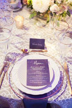 2018 pantone color of the year, pantone color of the year 2018, Whimsical Starry Nights Inspired Wedding, purple menu, pantone ultra violet, dark purple, violet