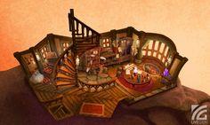UDK] Fantasy Cottage Interior Polycount Forum Concept art Environment concept art Landscape concept