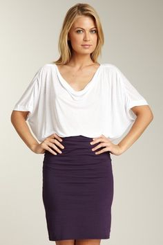 Work it at work.  Pure & Simple Dolman Sleeve Tee and Pencil Skirt