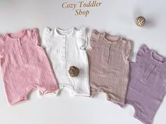 #summerclothes #summer #muslin #overall #girl #babygirl #toddlergirl #cottonbabyclothes Girls Summer Outfits, Toddler Outfits, Organic Baby Clothes, Trendy Baby, Lace Shorts, Toddler Girl, Overalls, Cotton Fabric, Rompers