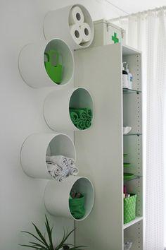 ¿Frío o Caliente? Estantes de tubo de cartón : x4duros.com