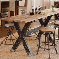 Console Table - reclaimed wood, pub or kitchen table - Canvas Interiors | Furniture Store