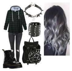 """""""Untitled #5"""" by karmaakbane on Polyvore featuring Topshop and Dr. Martens"""