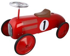 All-metal construction, based on original vintage toy car designs.