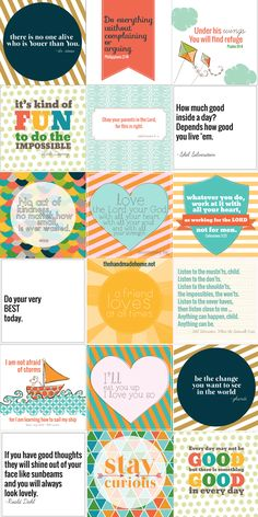 such an adorable set of free printables!