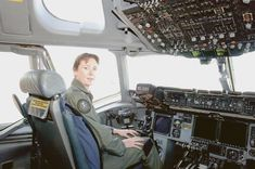 Wing Commander Linda Corbould, the first woman to command a Royal Australian Air Force flying squadron, training in a USAF C-17 Globemaster III