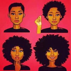 My Current situation;   6 months after my big chop I'm currently at photo 2.