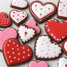 Delicious Chocolate Rolled Cookies make a beatiful base for these pretty Valentine's treats