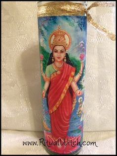 Hoodoo Lakshmi Fixed Candle Voodoo Witchcraft by RitualWitchShop