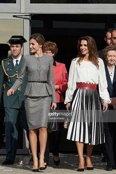 Fotografia de notícias : Queen Letizia of Spain and Queen Rania Abdullah...