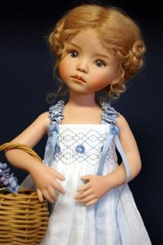 10 inch all porcelain Dianna Effner Studio Doll
