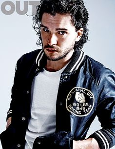 """Kit Harrington for Out magazine June/july 2015. Dressed in a grayish beige T-shirt with a stretched-out collar and jeans, he looks understatedly dashing. His eyes are an interesting shade of brown that picks up and reflects other colors. A server approaches, and he asks, """"Do you have any biscuits?""""""""Biscuits?"""" she responds, surely thinking of the fluffy and flaky kind you eat with fried chicken or use to sop up gravy, and then realizes: """"Oh, cookies!""""""""I didn't know that's what it was,"""" he…"""