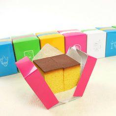 [天満屋特選スイーツ]カラフルなパッケージが可愛い♪食べきりサイズのカステラ。<福砂屋>...