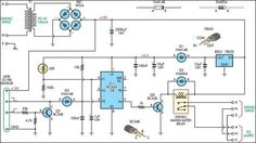 Automatic security lights circuit diagram