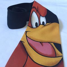 Foghorn Leghorn Mens Tie Necktie Warner Bros Looney Tunes Merry melodies Cartoon characters Novelty accessories Pre owned but in overall delightful condition with no stains, holes or tears sighted, Pre owned item in overall delightful condition with no stains, tears or holes sighted. One loose thread as per pic. Some minor creasing. Refer pics as part of condition and description | eBay!