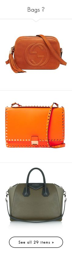 """""""Bags 👜"""" by champagnayegang ❤ liked on Polyvore featuring bags, handbags, orange, gucci handbags, red purse, embossed purse, embossed handbags, orange purse, shoulder bags and bolsas"""