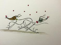 Nellie Doodles A4 print Bubble Hearts by NellieDoodles on Etsy
