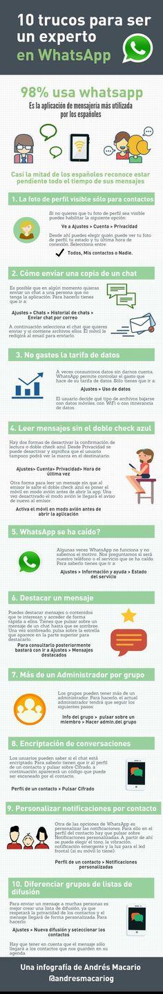 10 trucos para ser un experto en WhatsApp... #SocialMediaOP