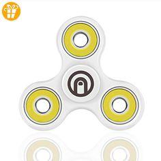 SPIN ME UP / Fidget Spinner / Hand Spinner / Tri-Spinner / Fidget Spielzeug für Erwachsene und Kinder / Herz-Keramik Schwarz High Quality / 9 Farben verfügbar (Weiß - Gelb) - Fidget spinner (*Partner-Link)