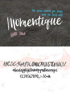 Momentique font. Script Fonts. $7.00