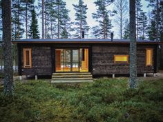 Cabin in Finland. Cabins In The Woods, House In The Woods, House Season 3, Cottage Design, House Design, Spencer House, Summer Cabins, Guest Cabin, Cottage Plan